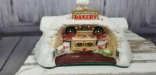 Enesco Music Musical Box Santa Xmas Holiday Sandi Zimnicki 1986 Bakery House