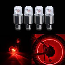 4x Red LED Dragonfly Wheel Tyre Tire Air Valve Stem Cap Light Lamp For Car Bike