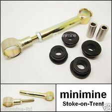 Classic Mini Adjustable Engine Steady Bar Kit with BLACK Polyflex Bushes austin