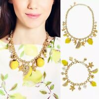 Kate Spade Enameled Lemon Tart Charm Necklace