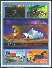 GHANA  IMPERF 2000 GREECE OLYMPIC GAMES SHEET SC#2190   MINT NH