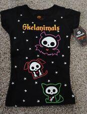 Skelanimals Girls Black Halloween Kit Dax Diego Graphic T-Shirt NWT Size XS/S/M