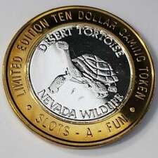 New Listing2006 G Slots A Fun Casino .999 Silver Strike $10 Desert Tortoise Token (Sf0682