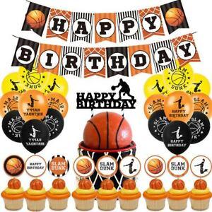 Basketball Football Theme Set Bunting Balloon Children Birthday Party Decoration