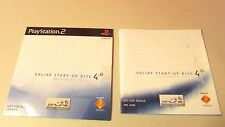 Ps2 Instruction broadband Manual with Online Start-up Disc 4.0 sealed