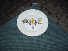 WW2 BRITISH WAR RELIEF SOCIETY Steubenville Plate, Pin's, Match Box, Lot 4 Items