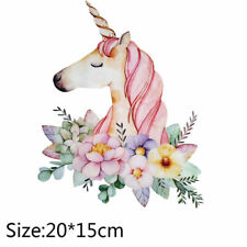 Unicorn Patches T-shirt Heat Transfer Sticker Washable Clothes Iron On Appliques