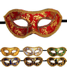 Masquerade Masks Sexy Venetian Style Various Colours Unisex Gold Leaf Ribbon Tie
