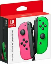 New Nintendo Switch Joy Con Wireless Controller - Green / Pink