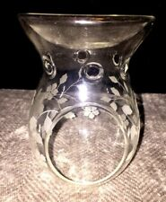 Blown Etched Glass Tart Oil Burner Yankee Candle? Never Used