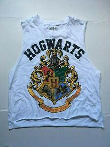 Harry Potter Hogwarts Crest  Womens  Juniors Crop Tank-Shirt, Available  m, L XL