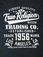 NWOT TRUE RELIGION TRADING CO FINEST QUALITY NAVY BLUE MEDIUM T-SHIRT B527
