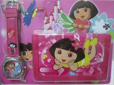 Dora the Explorer Children's Kids Boys Girls Watch Wallet Set For Christmas Gift