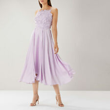 New COAST Janie Lace Lilac Hi Low Cocktail Midi Tea Dress 14 £149 Wedding