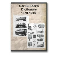 Car Builder's Dictionary 9 Editions Railroad Train Illustrated History CD D203