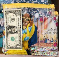 Disney BELLE A Tale Of Enchantment Pouch Bag W/Zipper Closure Exclusive NWT