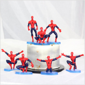 Spiderman Cake Scene Birthday Decorations Toppers STAND UP Figure Decoration