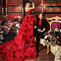 NEW Red Prom Party Quinceanera Pageant Cocktail Ball Gown Train Wedding Dresses