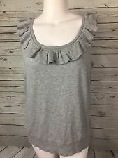 Talbots Petites sleeveless sweater top Size 2X NEW Gray with ruffle neck