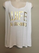 "(NWT) Womens Ideology White ""WIFE IN TRAINING"" Racer Back Tank Top Plus Size 3X"