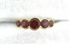 10Kt REAL Yellow Gold Natural 3mm 4mm 5mm Round Garnet Ladies Gem Gem Stone Ring