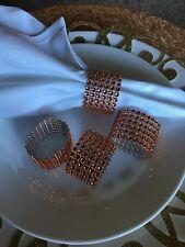 10 diamond crystar Rhinestone napking rings wedding party holder mesh orange