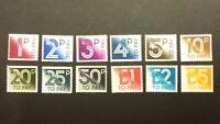 GB QEII 1982 Postage Dues Complete Set of 12 Values SG D90 - D101 Cat £24 MNH