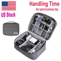 US Ship| Portable Gadget Storage Bag Cable Digital Travel Case Devices Organizer