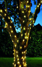 100 LED Solar String Firefly Lights Copper Wire Outdoor Garden Tree Bush
