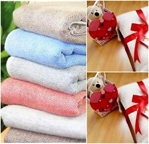 Cashmere Blanket Throw Sofa Travel Wrap Shawl Handwoven Nepal Wool Home Bedding