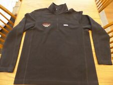 Patagonia Micro Quarter Zip Men's L Jacket Black Oracle Embroidered Company Logo