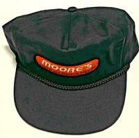 Vintage Hat Moore's Lumber Building Supplies Cap Hat Advertising Black Snapback