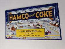 INK BLOTTER ELIAS ROGERS COMPANY HAMCO DUSTLESS COKE HOUSEHOLD FUEL HEAT