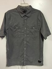 Nike Men's SB Workmen Short Sleeve Woven Shirt Gray Size XL