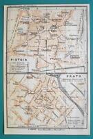 BAEDEKER 1909 old ISOLA D/'ELBA topo-map Portoferraio Italy mappa
