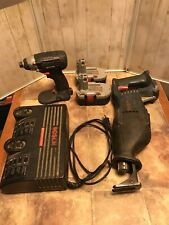 Bosch Reciprocating Saw 1646 Impactor 23618 and Charger Bc 230 with 2 batteries