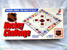 Vintage NHL Hockey Challenge Board Game By Infinity Games 1986 COMPLETE