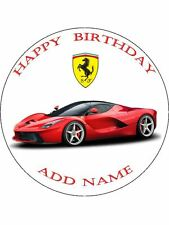 "Ferrari 7.5"" Round Icing Sheet, Cake Topper"