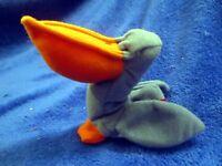 McDonald's Ty Teenie Beanie Scoop The Pelican NO TAG & NO BAG