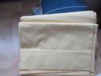 Vintage Wamsutta double/full, flat sheet - yellow - NEW 50% cotton/50% polyester
