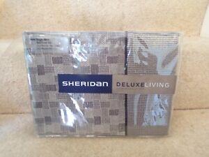 Sheridan deluxe living single duvet cover set  ENDICOTT BUFF NEW