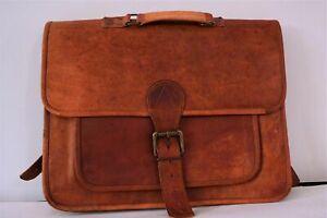 16''Genuine Medium Messenger Laptop Men's Cross Body Stylist Leather Vintage Bag
