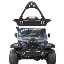 STINGER Front Bumper w/ LED Lights&Winch Plate for 1987-2006 Jeep Wrangler TJ YJ