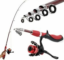 Carbon Fiber Portable Fishing Rod With Fishing Reels Combo Spinning Ice Rods Kit