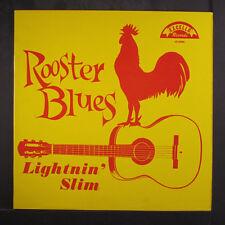 LIGHTNIN' SLIM: Rooster Blues LP (Mono, orange label, super sharp jacket but fo