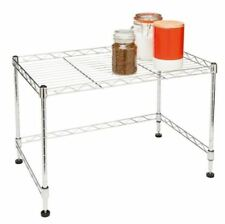 Rack Kitchen Microwave Shelf Stand Rack 57cm(w)x 35cm (d) x 36cm(h) Chrome Steel