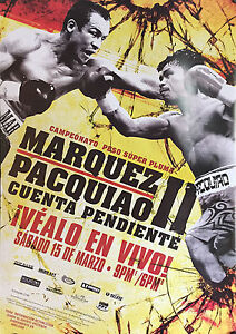 JUAN MANUEL MARQUEZ v MANNY PACQUIAO II 8X10 PHOTO BOXING POSTER PICTURE SPANISH