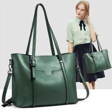 Women's Large Retro Handbag Leather Tote Bags Laies Crossbody Shoulder Satchel