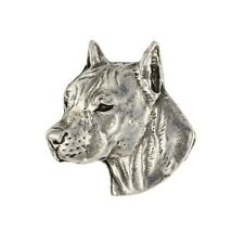 American Staffordshire Terrier, silver covered pin, high qauality Art Dog Ca