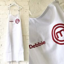 Personalised Embroidered Masterchef Style Apron Any Name Baker